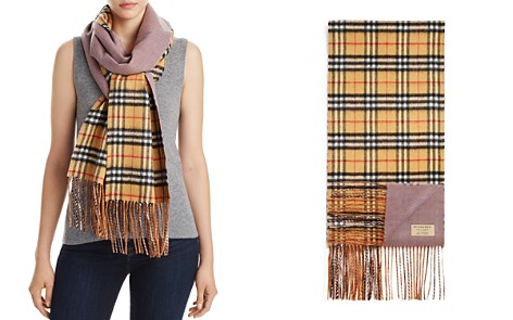 Burberry Reversible Castleford Check Cashmere Scarf - Bloomingdale's_2