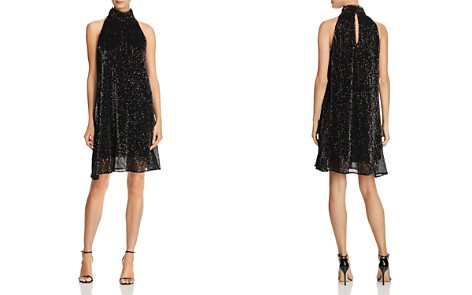 Laundry by Shelli Segal High-Neck Sequin Dress - Bloomingdale's_2