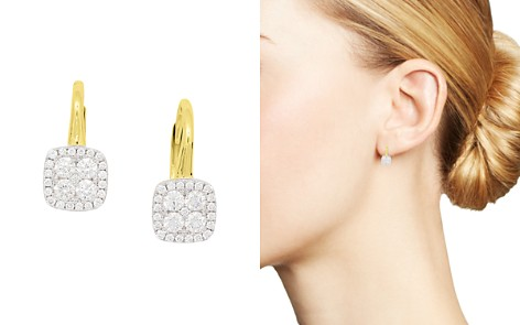Frederic Sage 18K White & Yellow Gold Firenze Pavé Diamond Cushion Earrings - Bloomingdale's_2