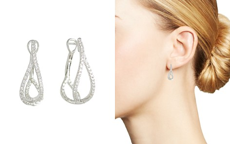 Frederic Sage 18K White Gold Diamond Small Crossover Hoop Earrings - Bloomingdale's_2