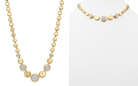 """Marco Bicego 18K White & Yellow Gold Diamond Pavé Jaipur Collar Necklace, 16"""" - 100% Exclusive - Bloomingdale's_2"""