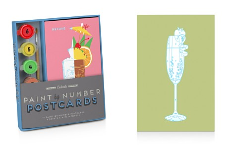Knock Knock Classic Cocktails Edition Paint by Number Postcards Kit - Bloomingdale's_2