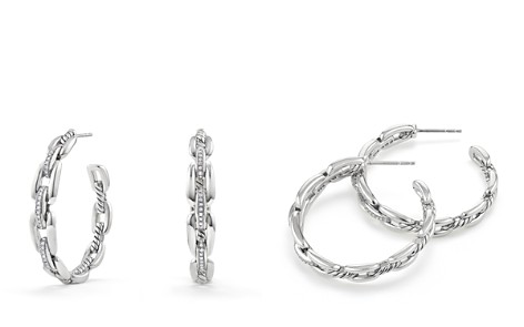 David Yurman Wellesley Hoop Earrings with Diamonds - Bloomingdale's_2
