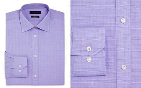 The Men's Store at Bloomingdale's Mini Glen Plaid Regular Fit Dress Shirt - 100% Exclusive_2