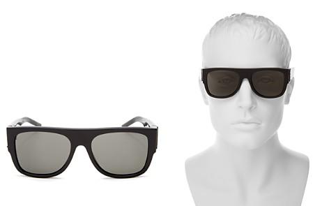 Saint Laurent Men's M16 Square Sunglasses, 55mm - Bloomingdale's_2