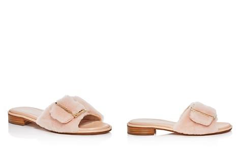Stuart Weitzman Women's Fuzzy Wuzzy Shearling Slide Sandals - Bloomingdale's_2