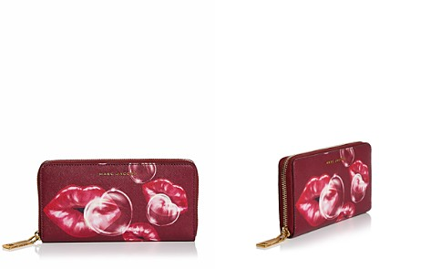 MARC JACOBS Standard Printed Lips Saffiano Leather Continental Wallet - Bloomingdale's_2