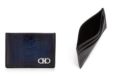 Salvatore Ferragamo Exotic Skin Card Case - Bloomingdale's_2