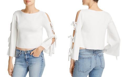 MILLY Tied Together Cropped Top - Bloomingdale's_2