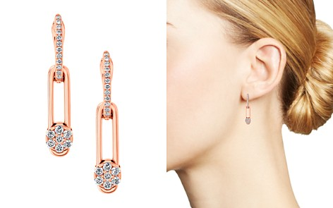 Hulchi Belluni 18K Rose Gold Diamond Tresore Single Linear Earrings - Bloomingdale's_2