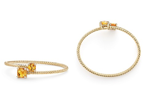David Yurman Châtelaine Bypass Bracelet with Citrine and Diamonds in 18K Yellow Gold - Bloomingdale's_2
