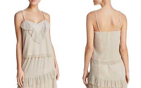 June & Hudson Ruffled Metallic Camisole - Bloomingdale's_2