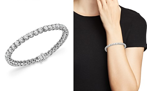 Bloomingdale's Diamond Tennis Bracelet in 14K White Gold, 12.0 ct. t.w. - 100% Exclusive _2