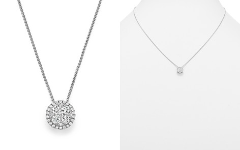 Bloomingdale's Diamond Cluster Round Pendant Necklace in 14K White Gold, .35 ct. t.w. - 100% Exclusive _2