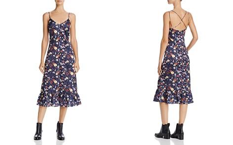 En Créme Floral Print Satin Midi Dress - Bloomingdale's_2