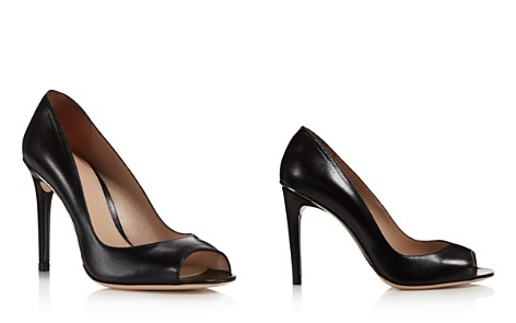 Stuart Weitzman Women's Dream Halo Leather Peep Toe Pumps - Bloomingdale's_2
