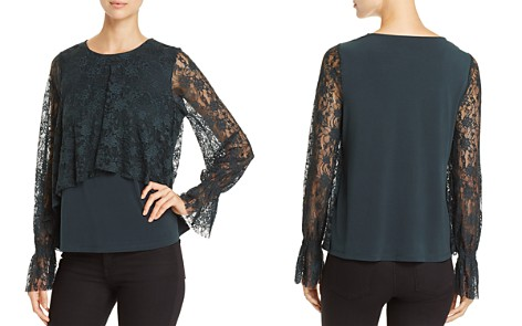 Cupio Lace Overlay Top - Bloomingdale's_2