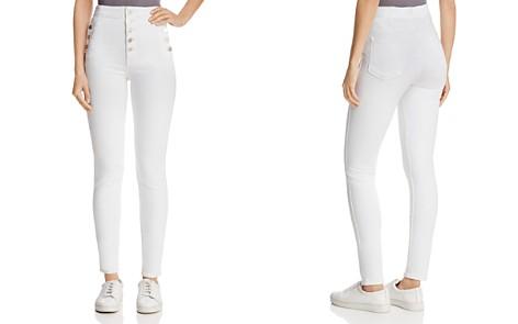 J Brand Natasha Sky-High Skinny Jeans in Blanc - Bloomingdale's_2