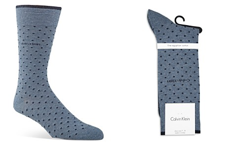 Calvin Klein Giza Pin Dot Socks - Bloomingdale's_2