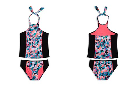 Gossip Girl Girls' Kaleidoscope Halter Tankini 2-Piece Swimsuit - Big Kid - Bloomingdale's_2