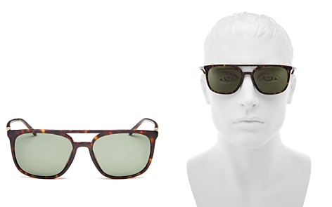 Burberry Men's Polarized Brow Bar Square Sunglasses, 56mm - Bloomingdale's_2