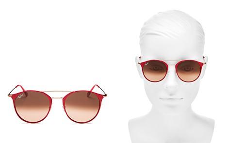 Ray-Ban Highstreet Brow Bar Round Sunglasses, 52mm - Bloomingdale's_2