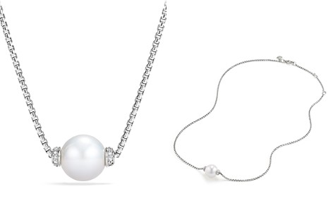 David Yurman Solari Pendant Necklace with Diamonds & Cultured Freshwater Pearl - Bloomingdale's_2