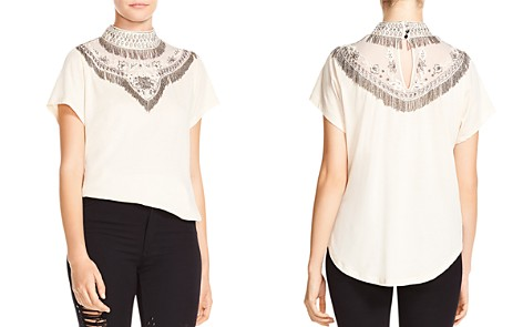 Haute Hippie Through The Looking Glass Embellished Tee - Bloomingdale's_2