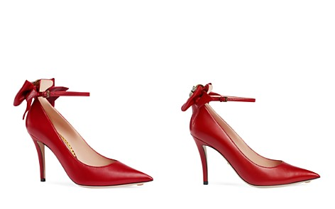 Gucci Women's Queen Margaret Leather Pointed Toe Ankle Strap Pumps - Bloomingdale's_2
