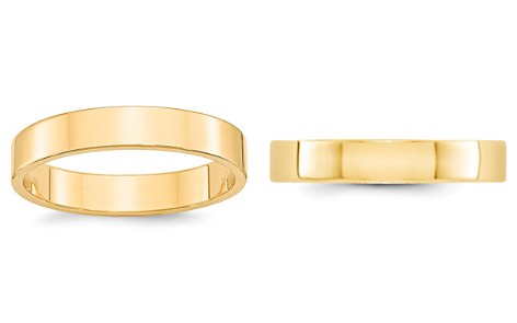 Bloomingdale's Men's 4mm Lightweight Flat Band Ring in 14K Yellow Gold - 100% Exclusive_2