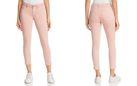 PAIGE Verdugo Cropped Skinny Jeans in Faded Pink Orchid - 100% Exclusive - Bloomingdale's_2