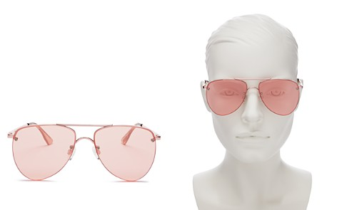 Le Specs The Prince Frameless Mirrored Aviator Sunglasses, 57mm - 100% Exclusive - Bloomingdale's_2