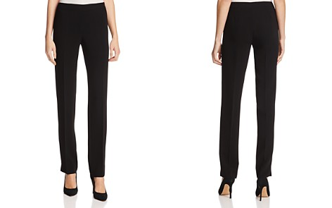 Lafayette 148 New York Bleecker Silk Straight-Leg Pants - Bloomingdale's_2