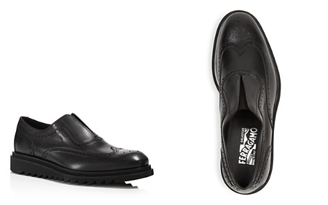 Salvatore Ferragamo Men's Carl Wingtip Calfskin Loafers - Bloomingdale's_2