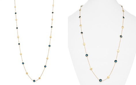 """Marco Bicego 18K Yellow Gold Jaipur London Blue Topaz Long Necklace, 36"""" - Bloomingdale's_2"""
