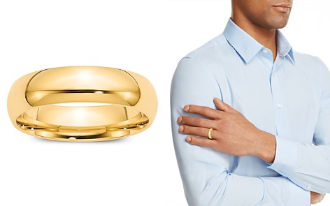 Bloomingdale's Men's 6mm Comfort Fit Band Ring in 14K Yellow Gold - 100% Exclusive_2