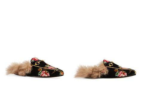 Gucci Women's Princetown Velvet & Lamb Fur Mules - Bloomingdale's_2