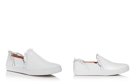 kate spade new york Women's Lilly Ruffle-Trim Leather Slip-On Sneakers - Bloomingdale's_2