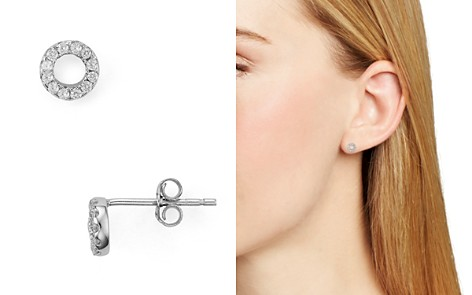 AQUA Sterling Silver Circle Stud Earrings - 100% Exclusive - Bloomingdale's_2