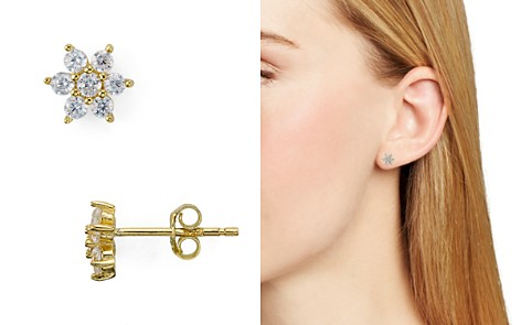 AQUA Sterling Silver Flower Stud Earrings - 100% Exclusive - Bloomingdale's_2