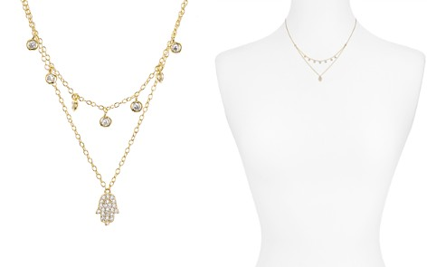 """AQUA Sterling Silver Hamsa Layered Necklace, 16-17"""" - 100% Exclusive - Bloomingdale's_2"""