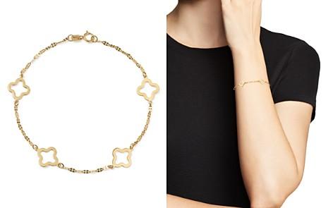 Bloomingdale's Quatrefoil Station Bracelet in 14K Yellow Gold - 100% Exclusive_2