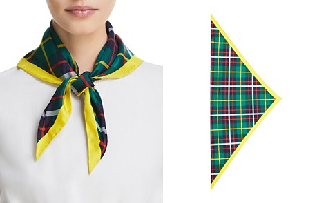 Burberry Check Bandana Silk Scarf - Bloomingdale's_2