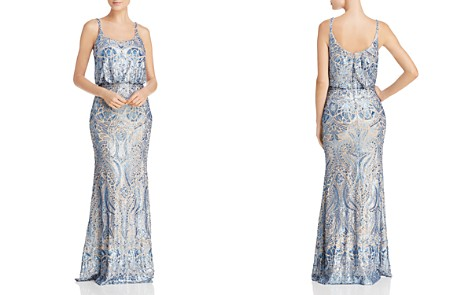 AQUA Sequin Lace Blouson Gown - 100% Exclusive - Bloomingdale's_2