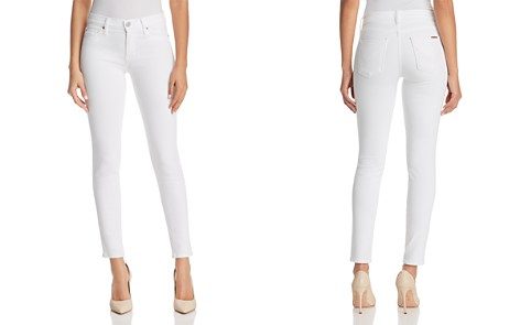 Hudson Nico Ankle Super Skinny Jeans in White - Bloomingdale's_2