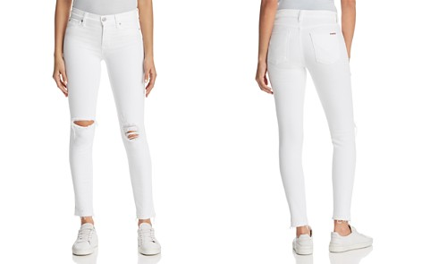 Hudson Nico Ankle Skinny Jeans in Optical White Destructed - Bloomingdale's_2