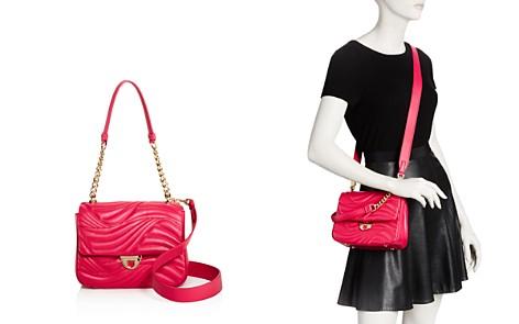 Salvatore Ferragamo Lexi Waves Small Leather Shoulder Bag - Bloomingdale's_2