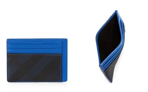Burberry Contrast Trim Smoke Check Card Case - Bloomingdale's_2