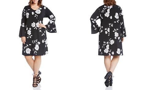 Karen Kane Plus Floral Print Bell Sleeve Dress - Bloomingdale's_2
