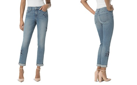 NYDJ Petites Embroidered Boyfriend Jeans in Pacific - Bloomingdale's_2